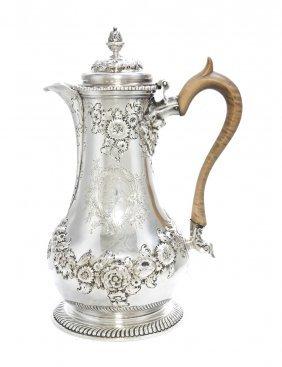 A George II Silver Coffee Jug, Thomas Whipham, Heigh