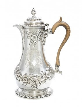 8: A George II Silver Coffee Jug, Thomas Whipham, Heigh
