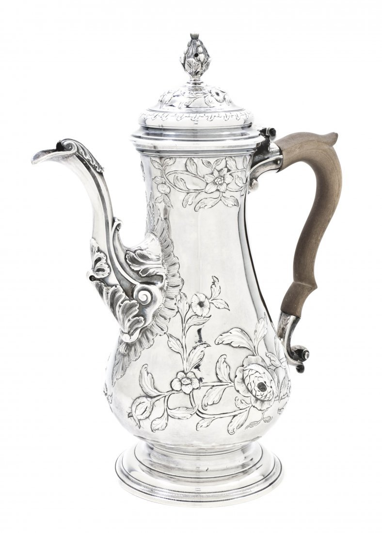 11: A George III Silver Coffee Pot, Thomas Whipham & Ch