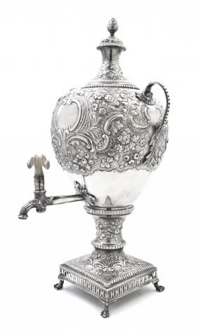 15: A George III Silver Urn on Stand, likely Samuel Eat