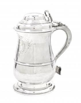 19: A George III Silver Tankard, John Deacon, Height 8