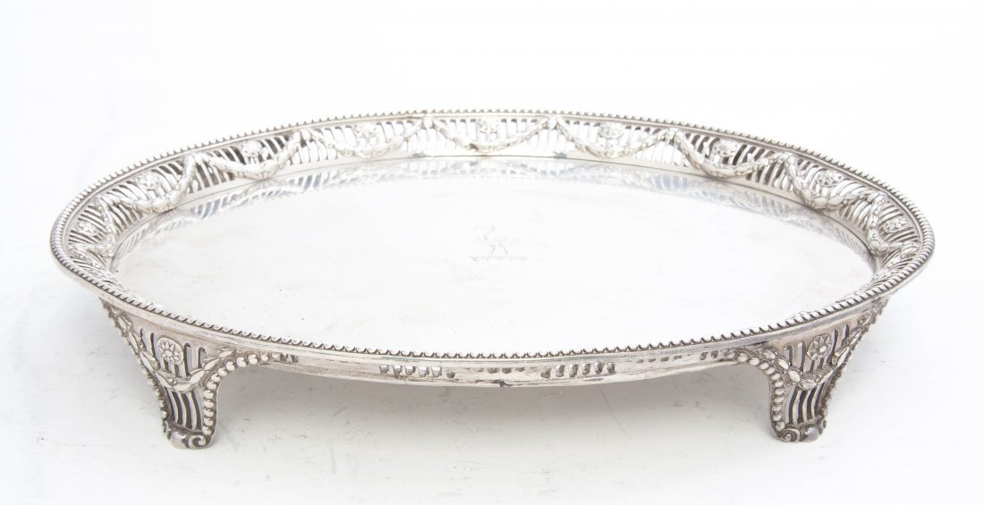 21: A George III Silver Salver, Robert Makepeace and Ri