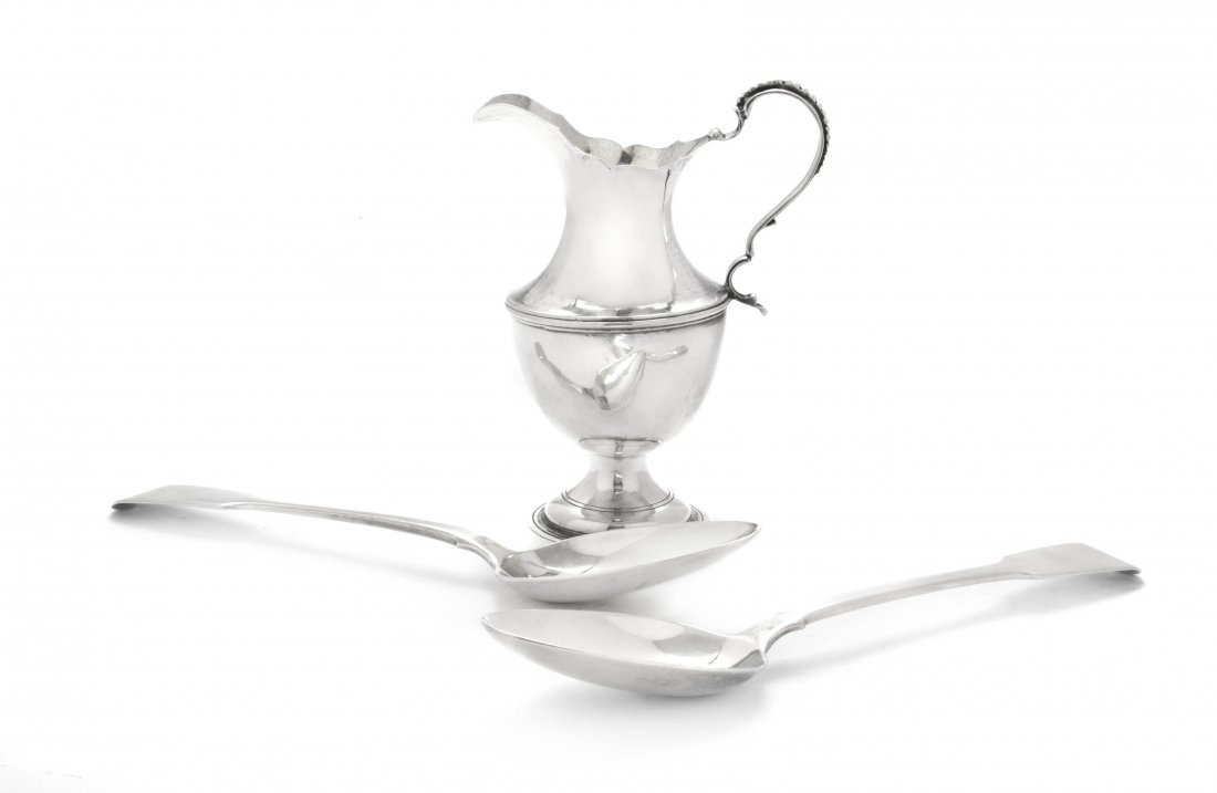 22: A George III Silver Creamer, Hester Bateman, Height