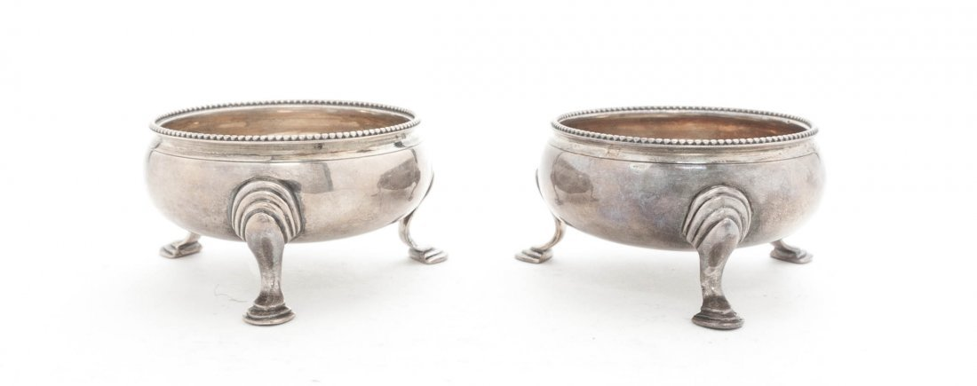 24: A Pair of George III Silver Salts, Hester Bateman,