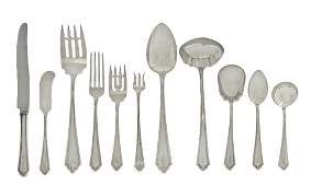 640: An American Sterling Silver Flatware Service for T