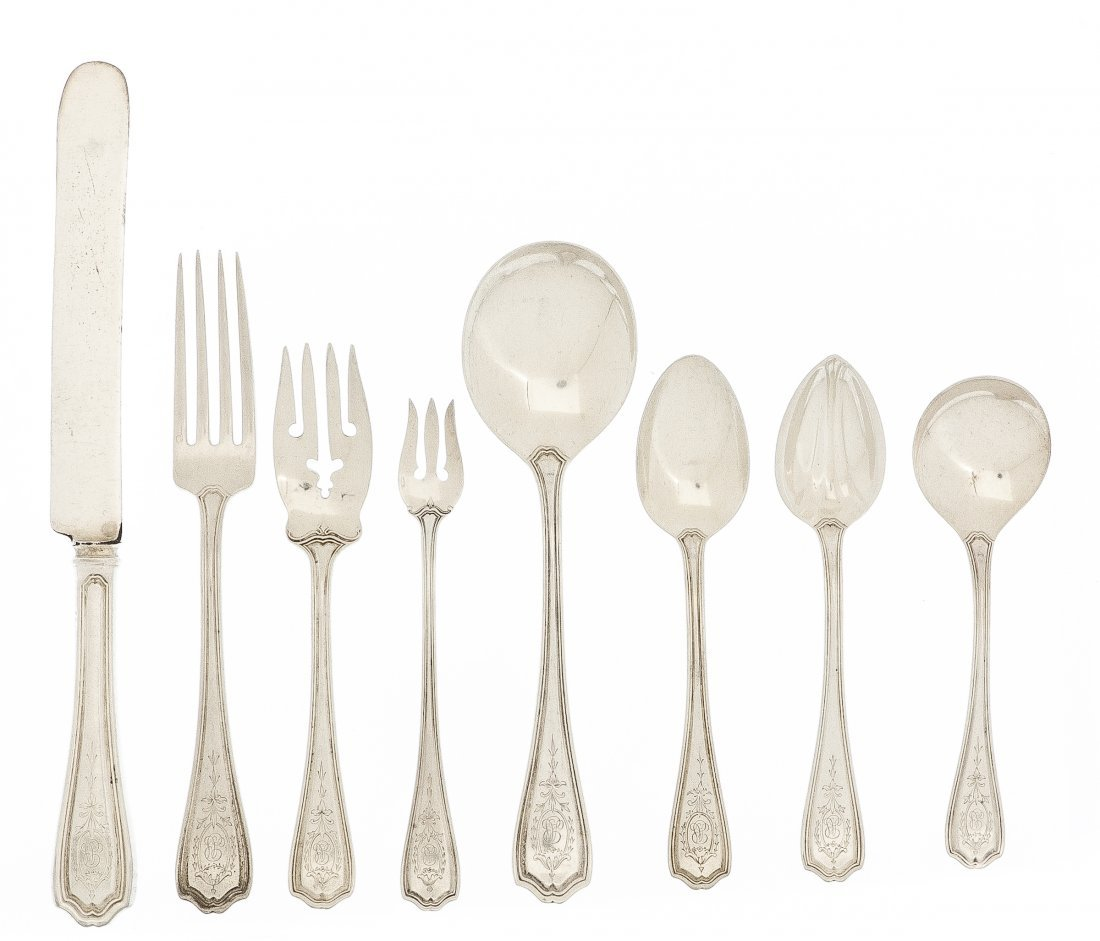 741: An American Sterling Silver Partial Flatware Servi