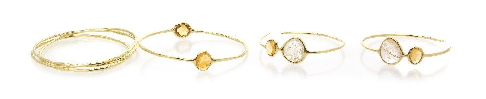 309: A Collection of 18 Karat Yellow Gold and Gem Jewel