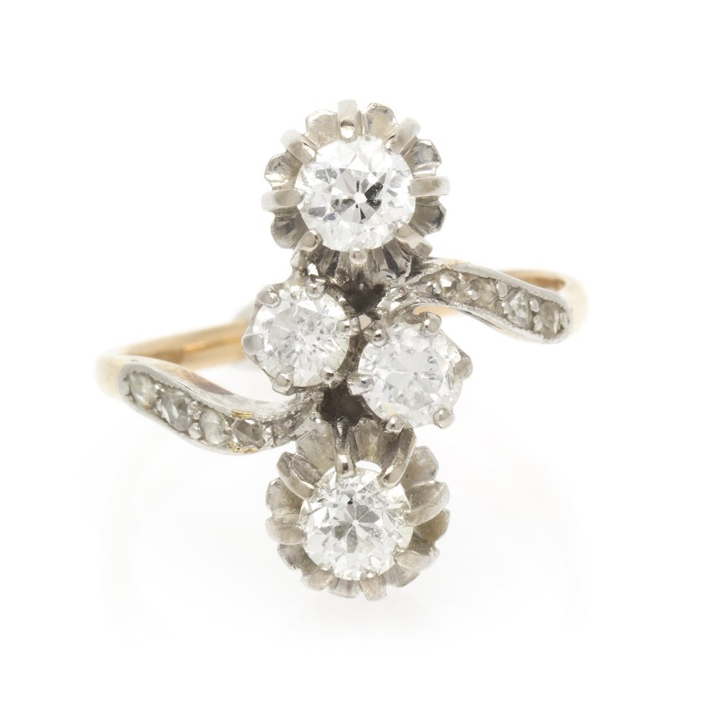463: An Edwardian Platinum Topped Yellow Gold and Diamo