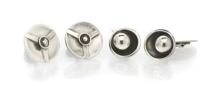 748: A Collection of Sterling Silver Cufflinks, 16.80 d
