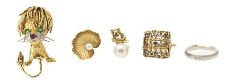 980: A Collection of Gold Jewelry, 23.90 dwts.