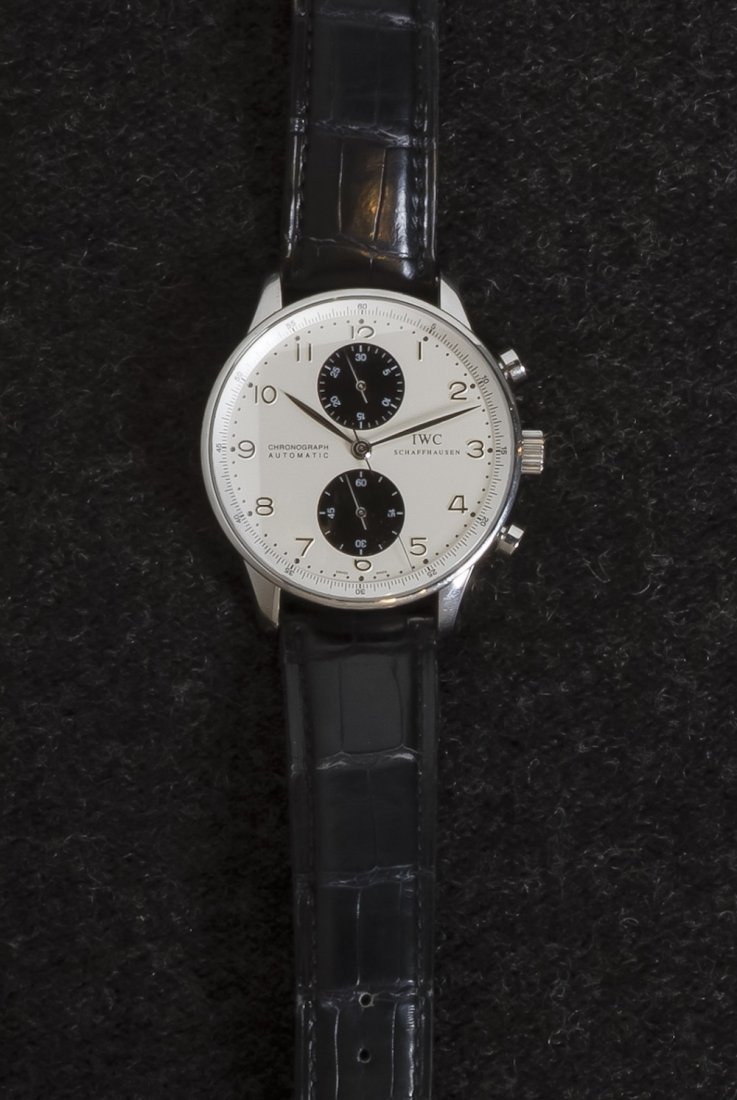 82: A Stainless Steel Portuguese Chronograph Wristwatch