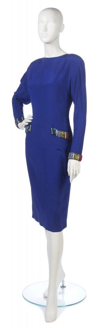 10: A Chloe Royal Blue Silk Dress,