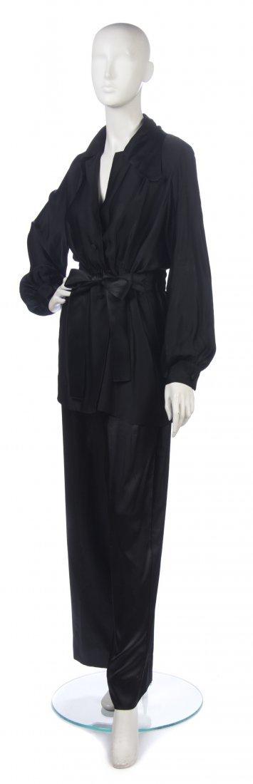 15: A Christian Dior Couture Black Silk Pants Ensemble,