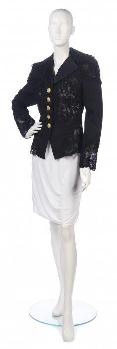 A Christian Lacroix Black Lace Evening Jacket, Size