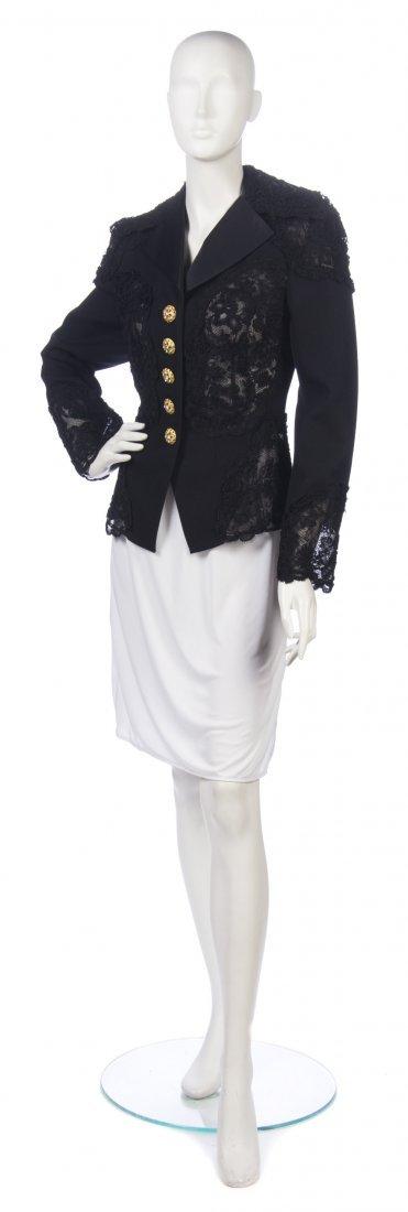 18: A Christian Lacroix Black Lace Evening Jacket, Size