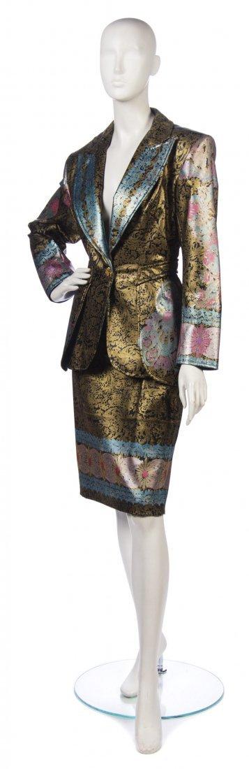 19: A Christian Lacroix Multicolor Painted Faux Leather