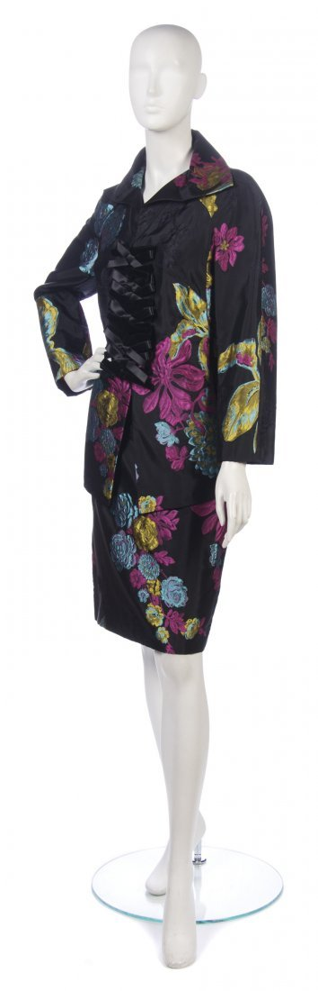 20: A Christian Lacroix Multicolor Silk Evening Suit, S