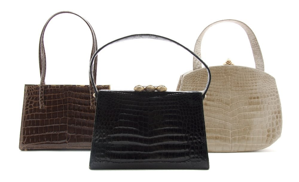 545: A Group of Three French Crocodile Bags,