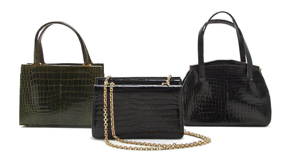 547: A Group of Three Crocodile Bags,