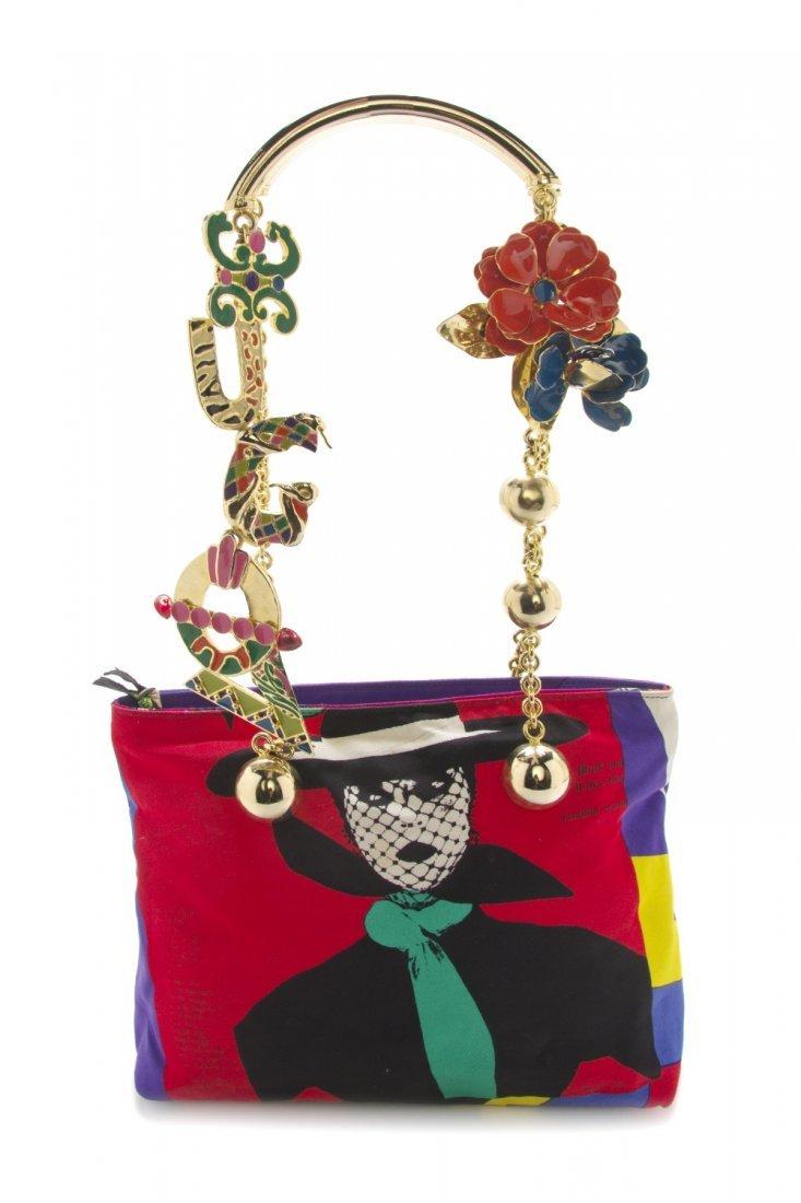 607: A Gianni Versace 'Vogue Magazine' Print Bag, 10 1/