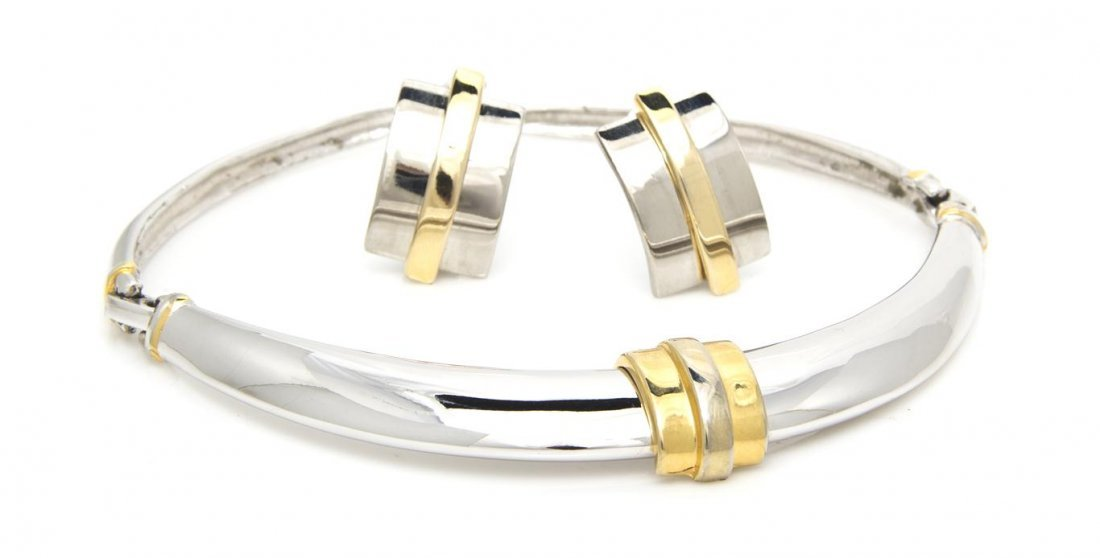 932: An Alexis Kirk Two-Tone Metal Suite,