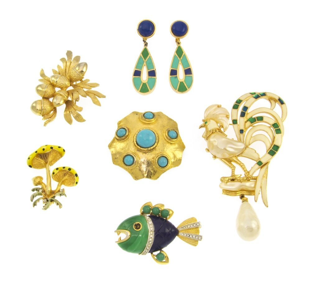 943: A Group of Hattie Carnegie Costume Jewelry,