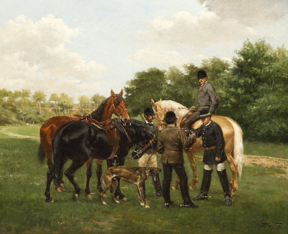 216: Jan Rosen, (Polish, 1854-1936), Riders and Horses,