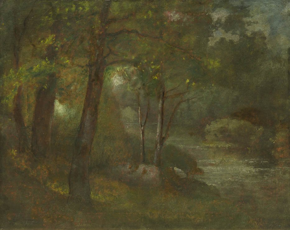 6: George Inness, (American, 1825-1894), The Brook, c.