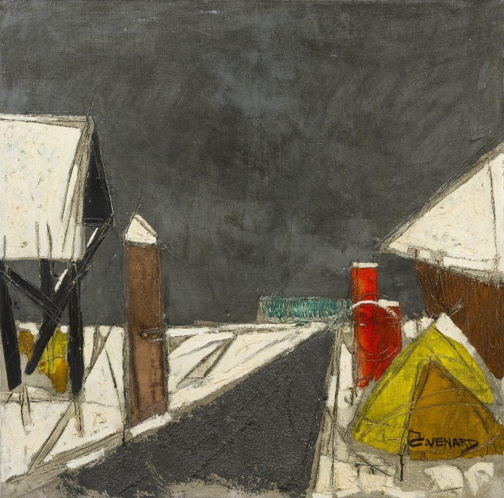 1002: Claude Venard, (French, 1913-1987), Road Through