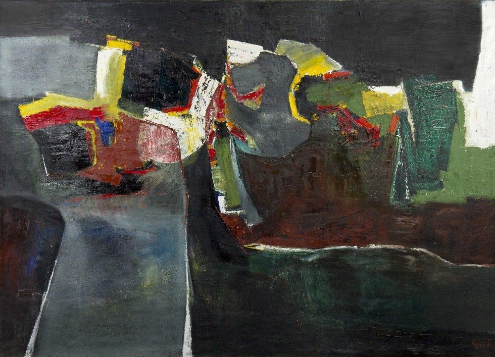 1003: Seymour Fogel, (American, 1911-1984), The Bridge,