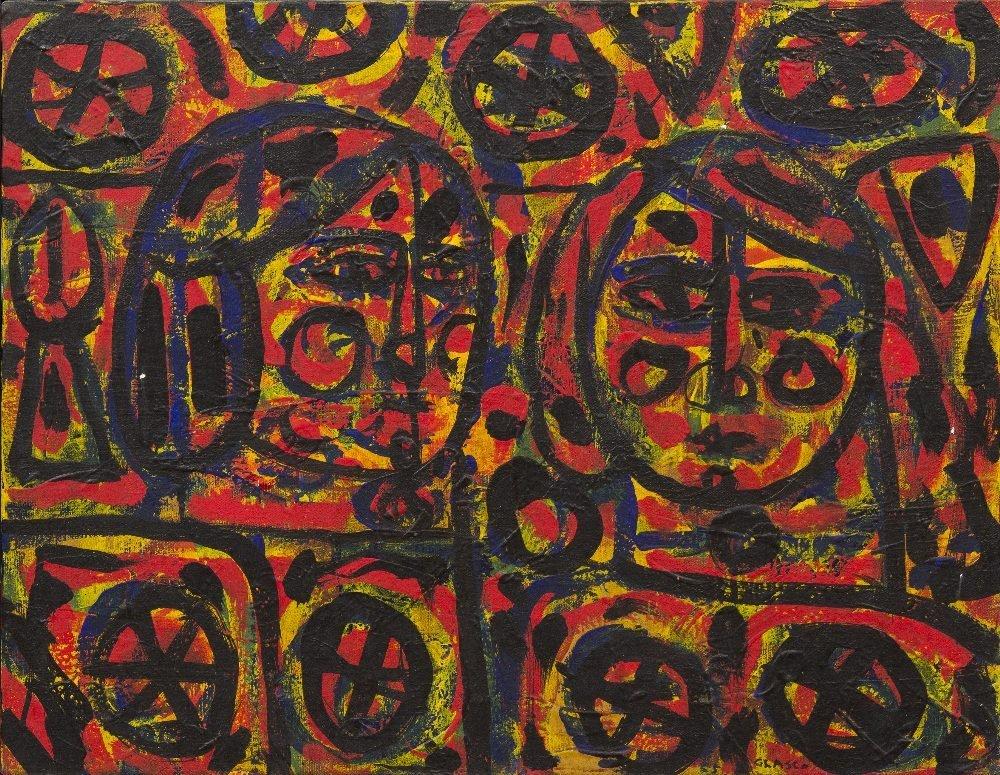 1004: Joseph M. Glasco, (American, 1925-1996), Abstract