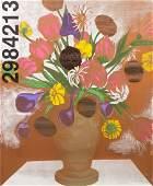 1165: Jonathan Borofsky, (American, b. 1942), Flowers N