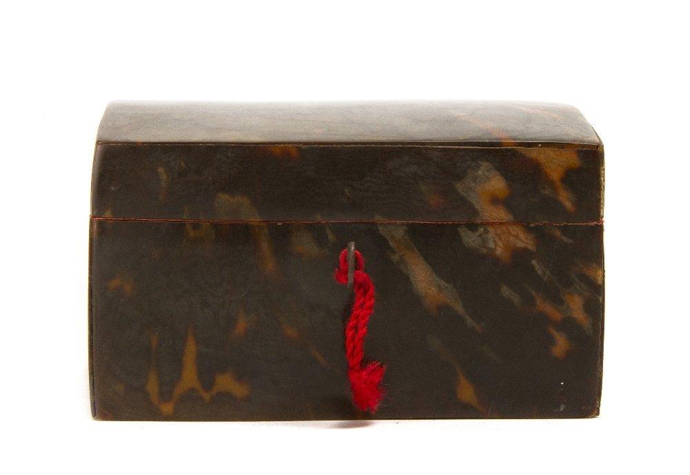 5: A Regency Tortoise Shell Veneered Box, Height 4 1/4