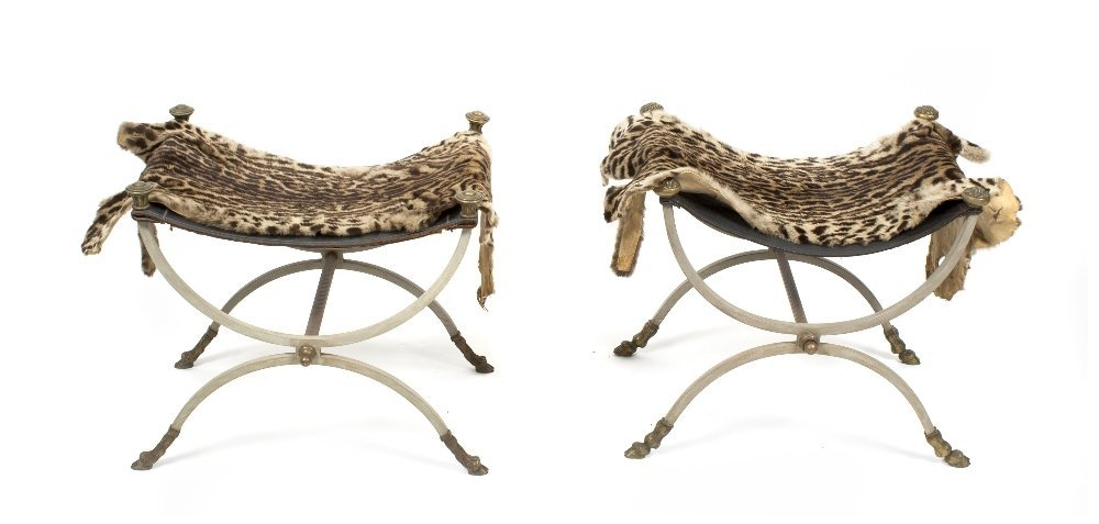 12: A Near Pair of Neoclassical Style Painted Wrought I