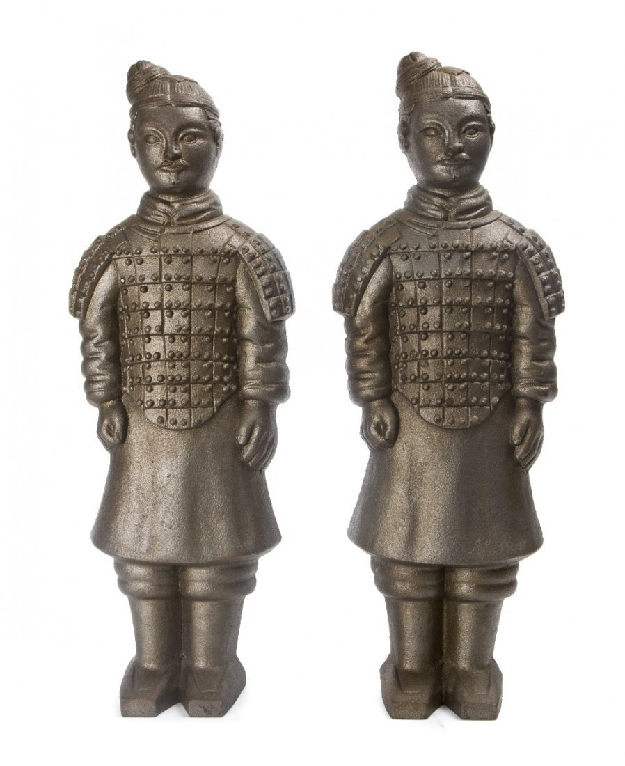 18: A Pair of American Iron Figures depicting Chinese T