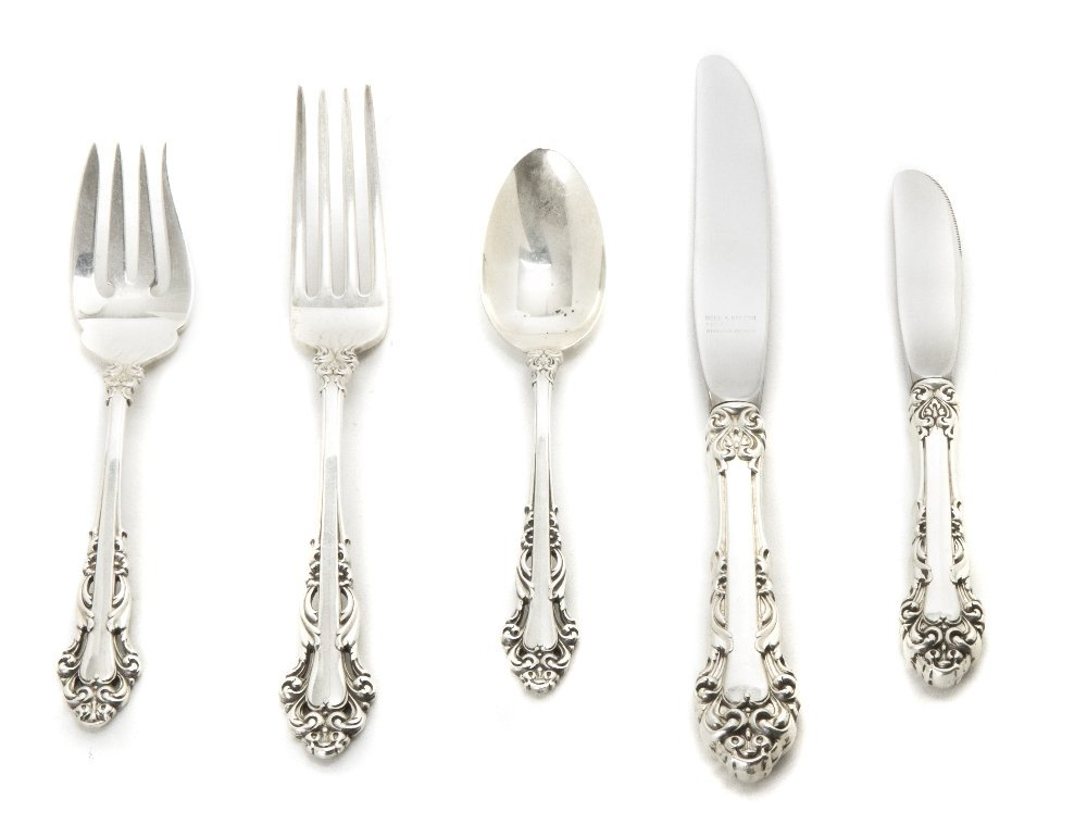 358: An American Sterling Silver Partial Flatware Servi