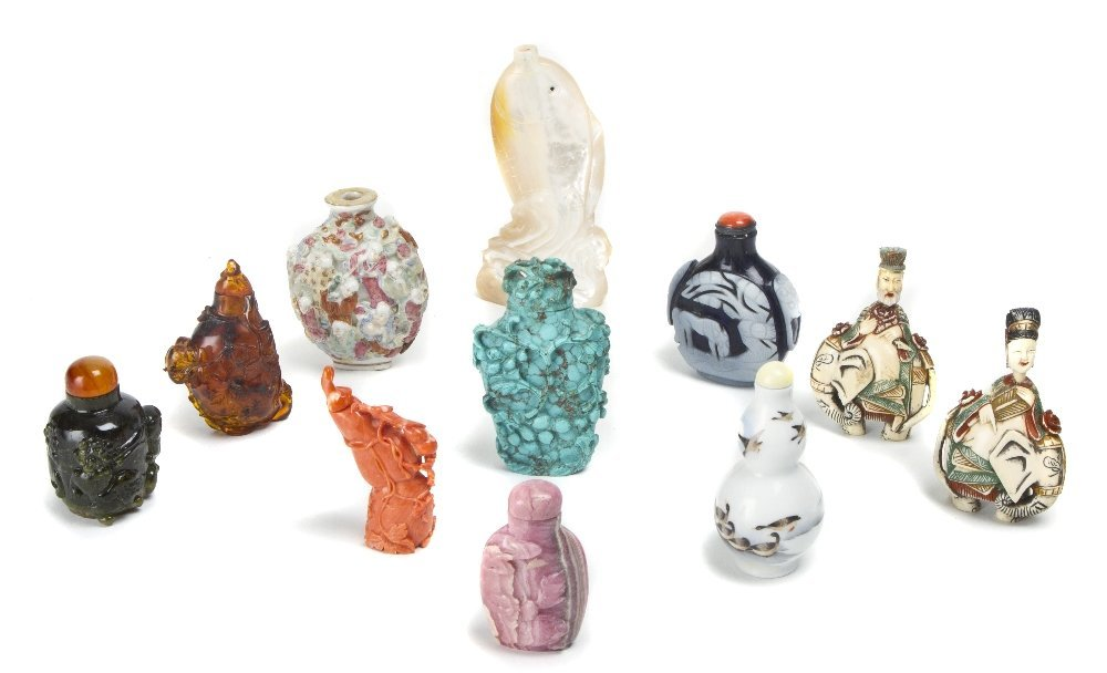366: A Collection of Eleven Chinese Snuff Bottles, Heig