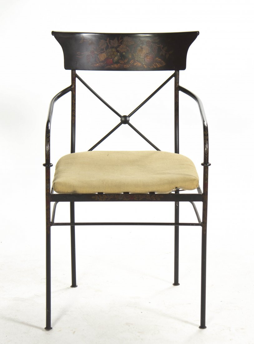 2010: An American Stenciled Steel Armchair, Height 37 1