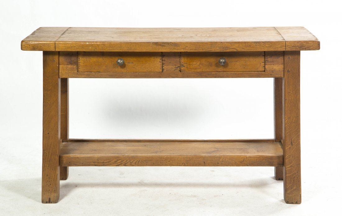 2018: An Arts and Crafts Style Oak Writing Table, Heigh