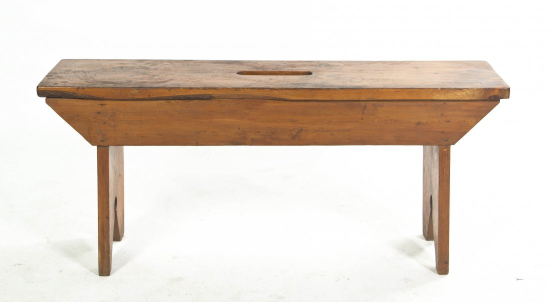 2023: An American Pine Bench, Width 47 3/4 inches.