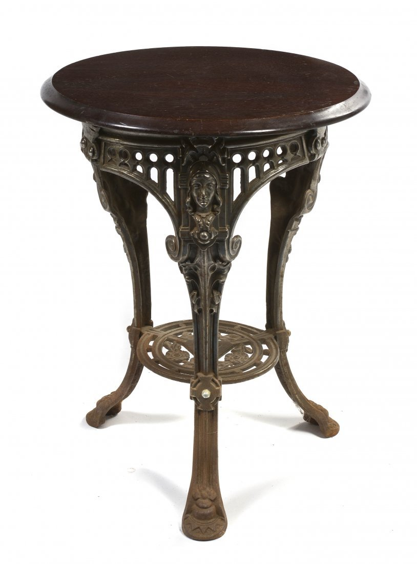 2024: An English Cast Iron Occasional Table, Height 29