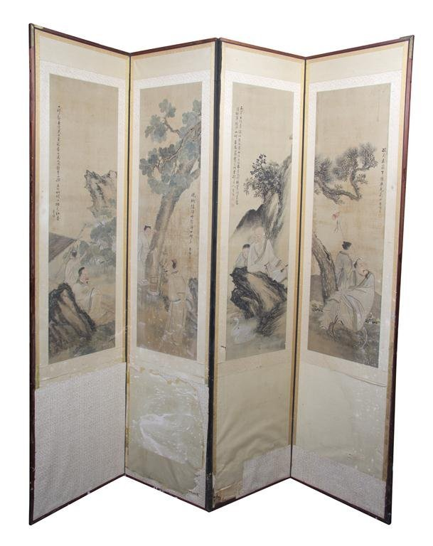 2406: A Chinese Four-Panel Floor Screen, Height of each