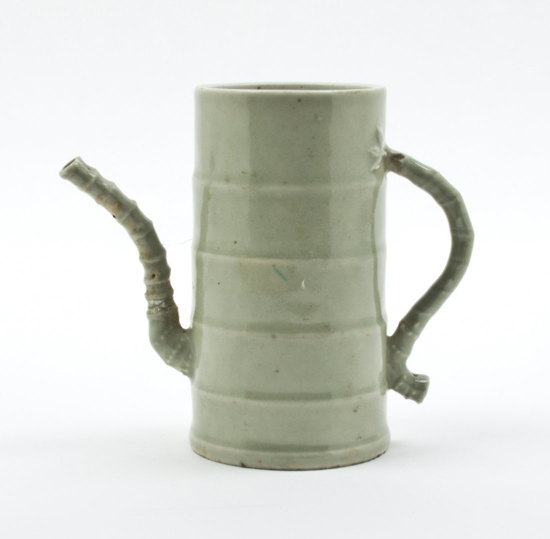2427: A Ceramic Bamboo Segment Form Pitcher, Height 5 5