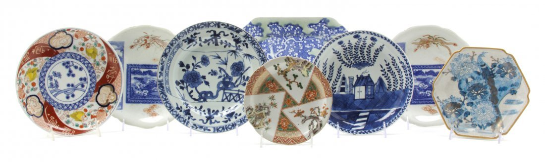 2428: A Group of Eight Chinese and Japanese Ceramic Pla