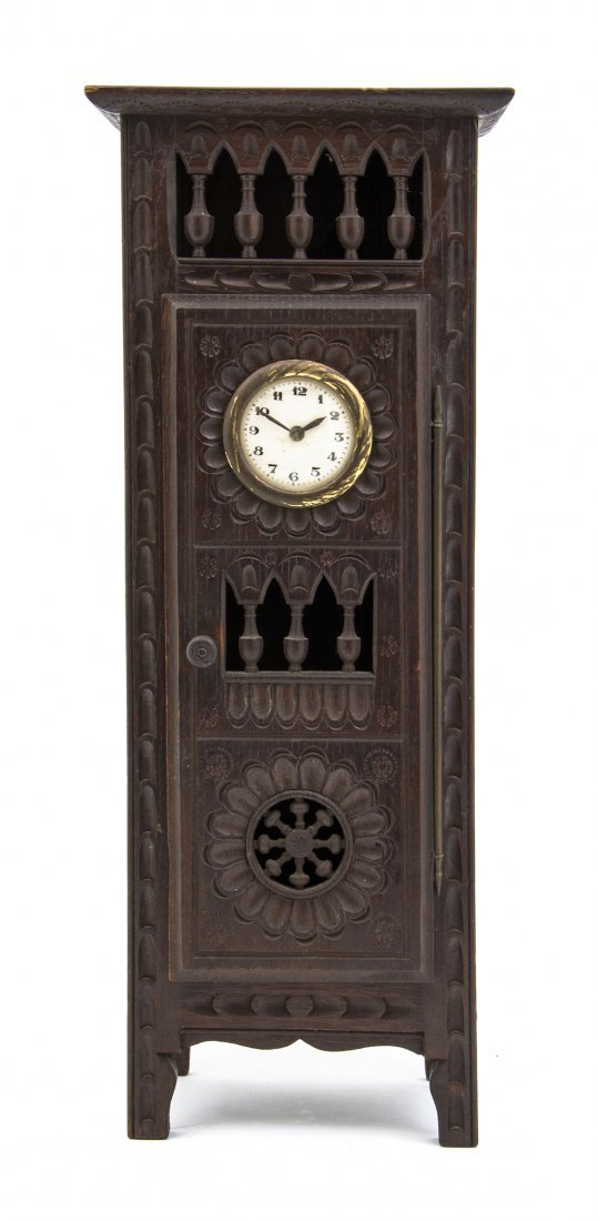 11: A Brittany Style Mahogany Diminutive Armoire, Heigh