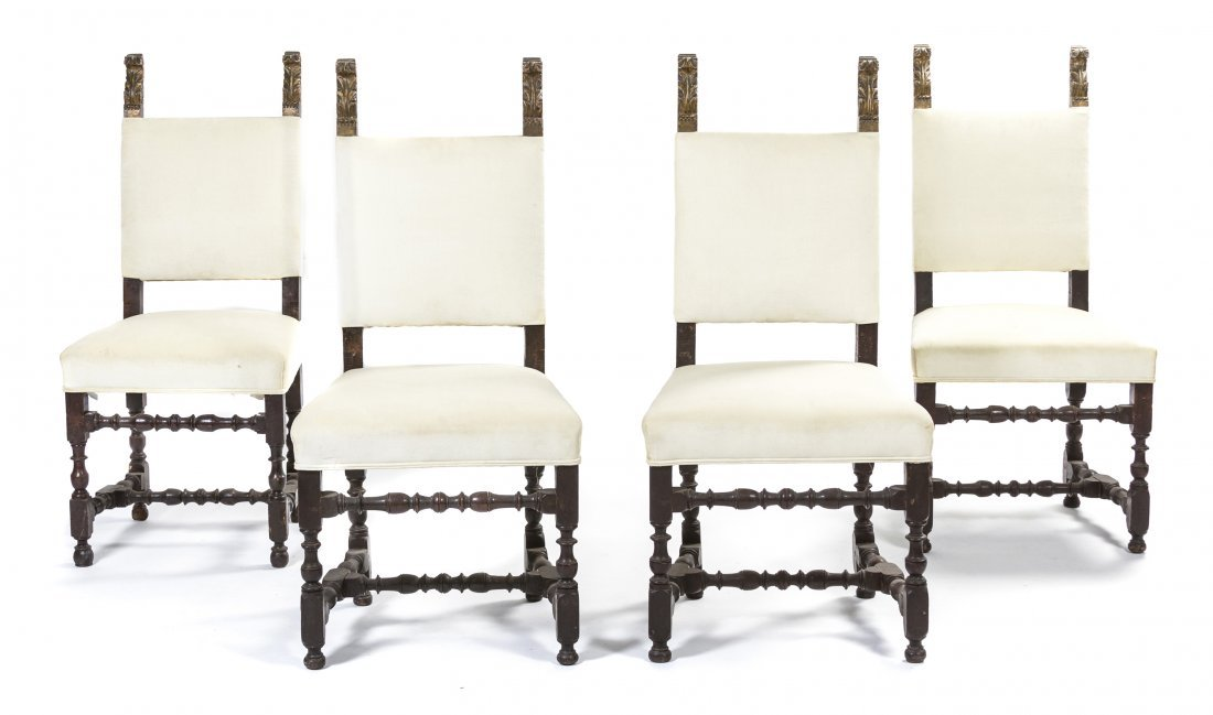 14: A Set of Four Italian Side Chairs, Height 41 inches