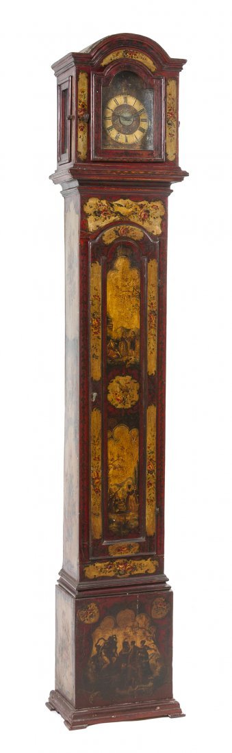 20: An Italian Red Lacquered and Parcel Gilt Decorated