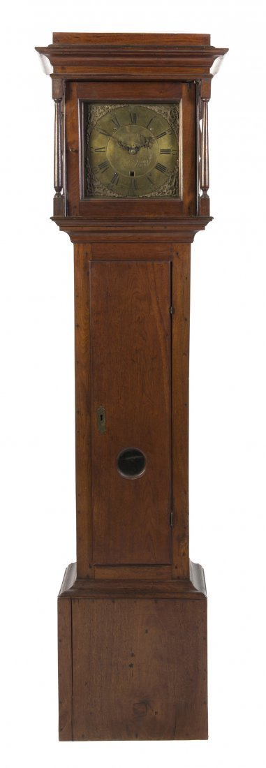 657: An American Mahogany Tall Case Clock, Jacob Gorgas