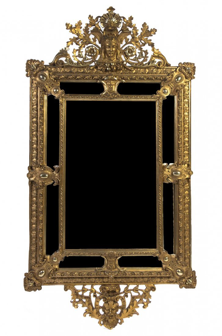 661: An American Neoclassical Giltwood Mirror, Height 7