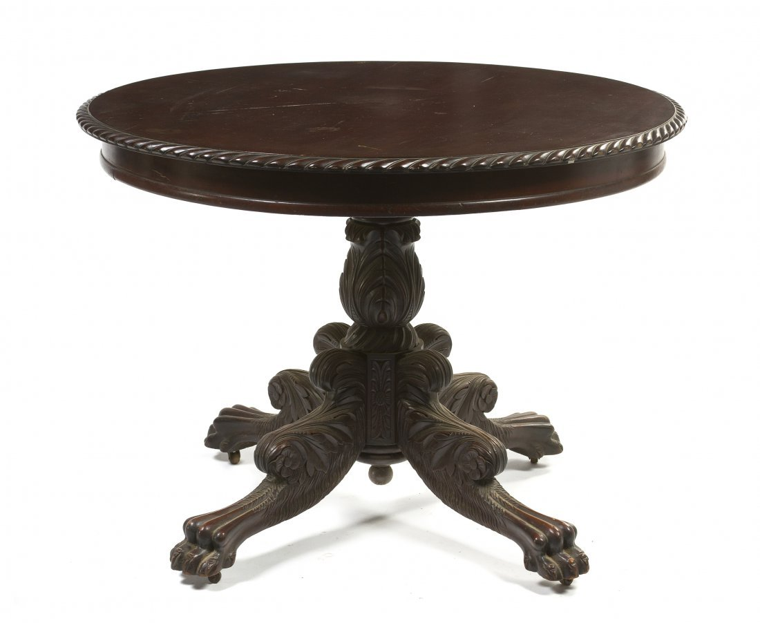 662: An American Classical Mahogany Center Table, Heigh